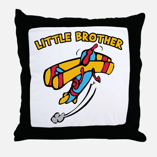 Little Brother Plane Throw Pillow