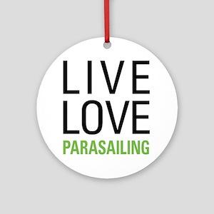 Parasailing Ornament (Round)