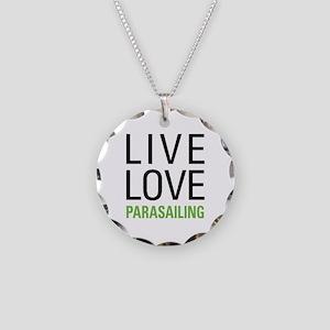 Parasailing Necklace Circle Charm