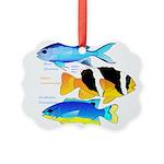 3 Damselfish Ornament