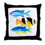 3 Damselfish Throw Pillow