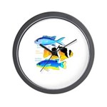 3 Damselfish Wall Clock