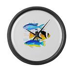 3 Damselfish Large Wall Clock