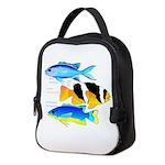 3 Damselfish c Neoprene Lunch Bag