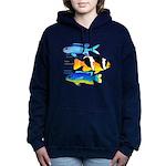 3 Damselfish c Women's Hooded Sweatshirt