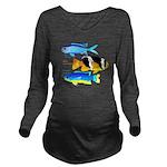 3 Damselfish c Long Sleeve Maternity T-Shirt