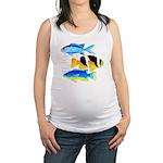 3 Damselfish c Maternity Tank Top