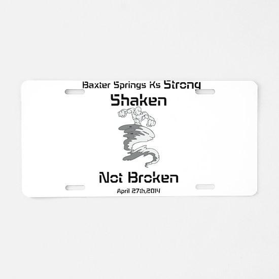 Baxter Strong Aluminum License Plate