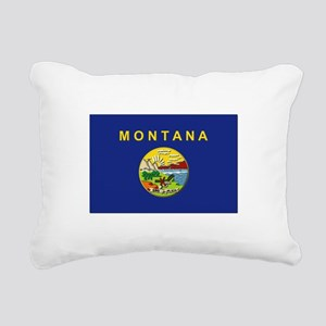 Montana Flag Rectangular Canvas Pillow