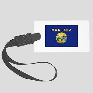 Montana Flag Large Luggage Tag