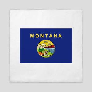 Montana Flag Queen Duvet