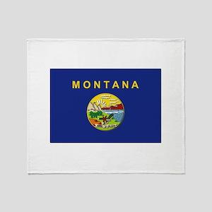 Montana Flag Throw Blanket
