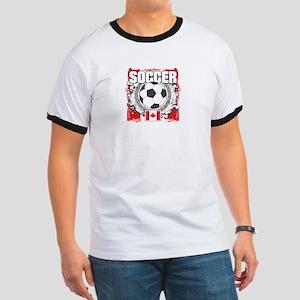 Canada Soccer Ringer T