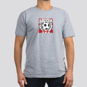Canada Soccer Men's Fitted T-Shirt (dark)