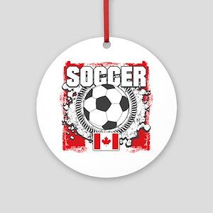 Canada Soccer Ornament (Round)