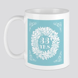 33rd Anniversary Wreath Mug