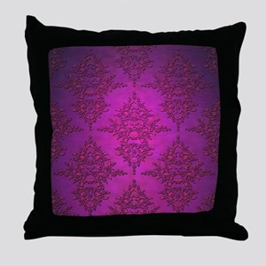 Vibrant Elegant Pink and Purple Damask Pattern Thr