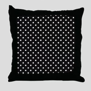 Black and white Polka Dots Throw Pillow