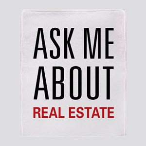 Ask Me Real Estate Throw Blanket