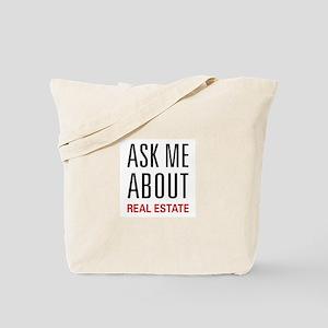 Ask Me Real Estate Tote Bag