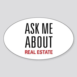 Ask Me Real Estate Oval Sticker