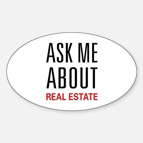Ask Me Real Estate Oval Decal