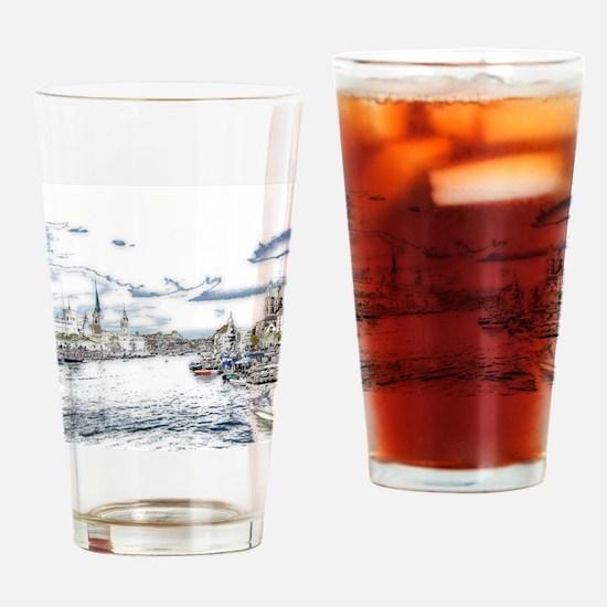 Cool Zurich Drinking Glass
