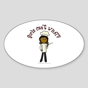 Dark Chef Oval Sticker