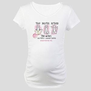 Wish TNR 3 Cats - Black Text Maternity T-Shirt