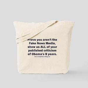 Fake news media is Tote Bag