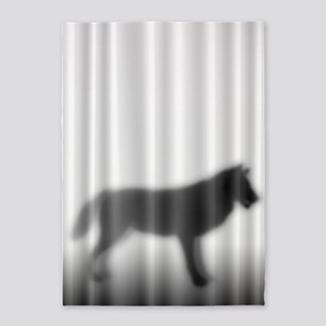 Wolf Silhouette 5'x7'Area Rug