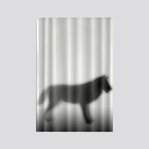 Wolf Silhouette Rectangle Magnet
