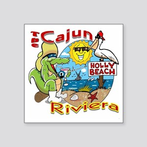 "Cajun Paradise Square Sticker 3"" x 3"""