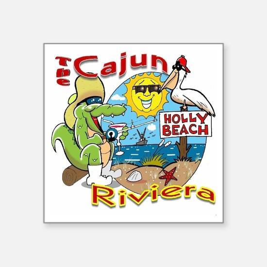 "Cajun Paradise Square Sticker 3"" x 3"""