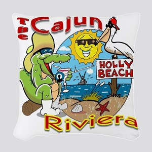Cajun Paradise Woven Throw Pillow