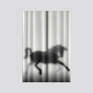 Carousel Horse Silhouette Rectangle Magnet