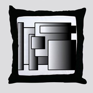 Industrial Squares #1 Throw Pillow