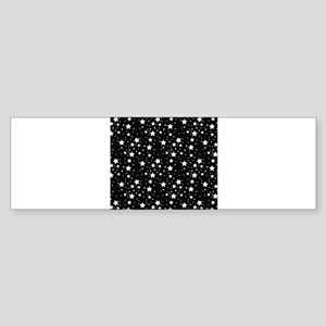 Black and White Stars Bumper Sticker