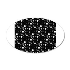 Black and White Stars Wall Decal