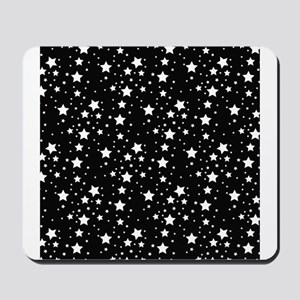 Black and White Stars Mousepad