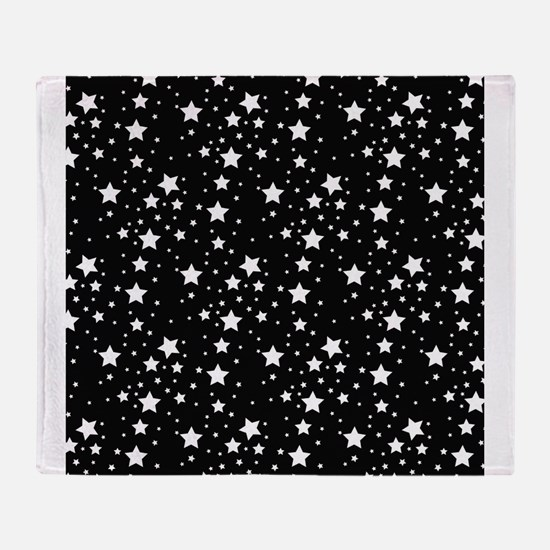 Black and White Stars Throw Blanket