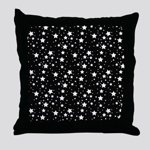 Black and White Stars Throw Pillow