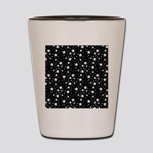 Black and White Stars Shot Glass