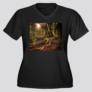 Fairy Forest Tree House Plus Size T-Shirt