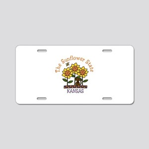 The Sunflower State Aluminum License Plate