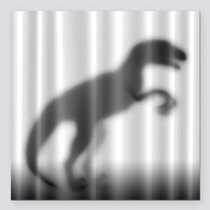 "Raptor Silhouette Square Car Magnet 3"" x 3"""