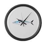 Atlantic Spanish Mackerel Large Wall Clock