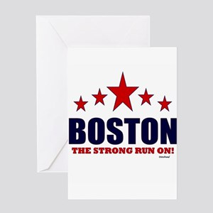 Boston The Strong Run On! Greeting Card