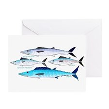4 Atlantic Mackerels Greeting Cards