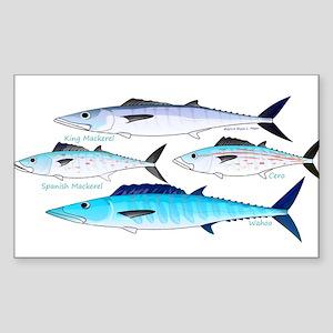 4 Atlantic Mackerels Sticker